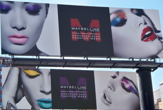 Maybelline billboard - Hudson Street NYC - 0811