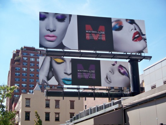 Maybelline billboard on buidling- Hudson Street NYC - 0811
