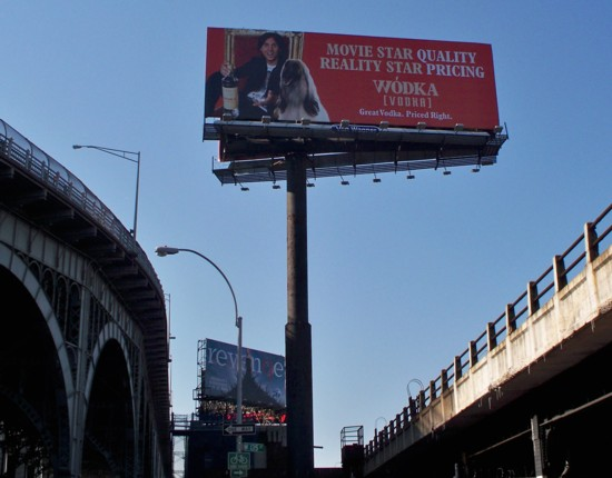 Wodka Vodka billboard NYC - 09-11 location