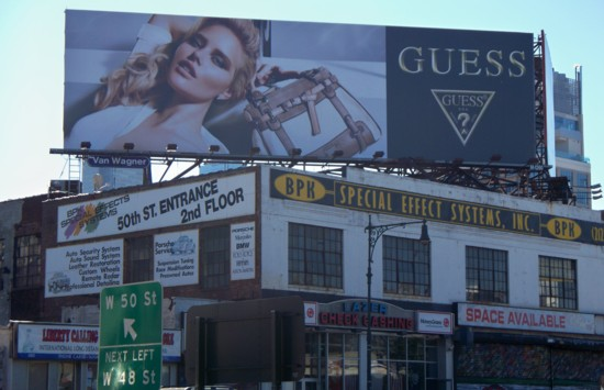 Guess Jeans billboard - building – NYC – 10-11