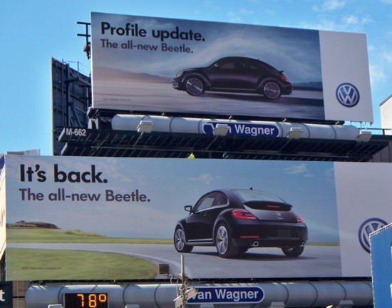 Volkswagen Beetle two-story billboard - NYC 09-11