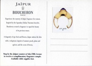 Jaipur Boucheron perfume postcard advertisement
