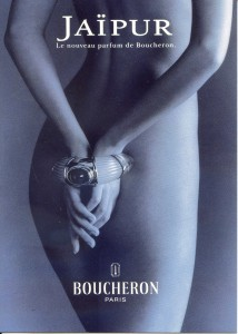 Jaipur Boucheron perfume bondage advertisement