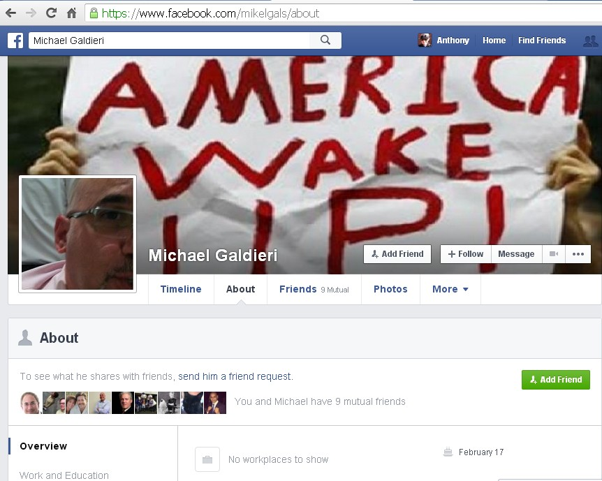 Michael Galdieri's Facebook Page